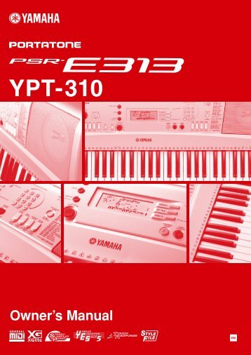 PSR-E313/YPT-310 Owner's Manual - Yamaha