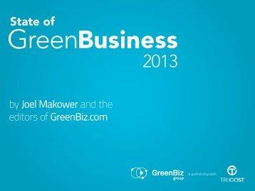 State of Green Business 2013 - GreenBiz.com