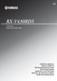 RX-V430RDS - Yamaha