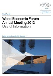 World Economic Forum Annual Meeting 2012 Useful Information