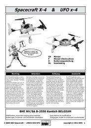 Spacecraft X-4 & UFO x-4 - BMI-models