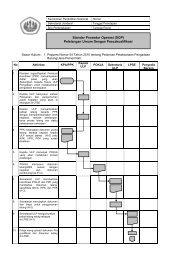 Standar Prosedur Operasi (SOP) Pelelangan Umum - Procurement