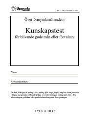 Kunskapstest för blivande gode män - Uppsala kommun