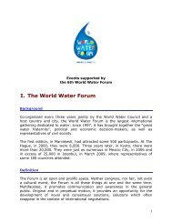 Labeling Charter - 6th World Water Forum