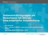 Sehbeeinträchtigungen als Risikofaktor für Stürze: Eine ... - DGSMP