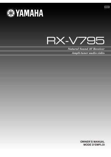 RX-V795 - Yamaha