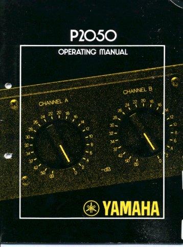 P2050 - Yamaha