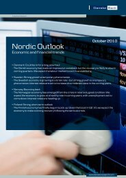 Nordic Outlook - Danske Analyse - Danske Bank
