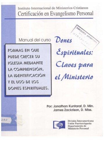Manual de Dones - Ptr. Arturo Quintero