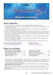 yamaha studio manager v2.0.pdf - Inicio
