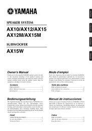 SPEAKER SYSTEM AX10/AX12/AX15 AX12M/AX15M - Yamaha