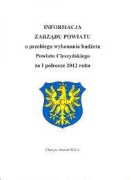 Informacja o przebiegu wykonania budżetu za I półrocze 2012 r.