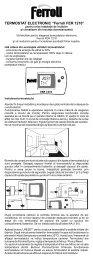 "TERMOSTAT ELECTRONIC ""Ferroli FER 1210"" - Comstal"