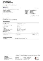 LADR GmbH - MVZ Dr. Kramer & Kollegen PRÜFBERICHT