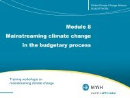 Module 8 Mainstreaming climate change in the budgetary process