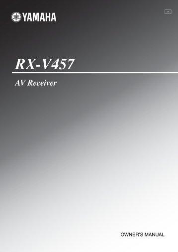 RX-V457 AV Receiver -  Yamaha