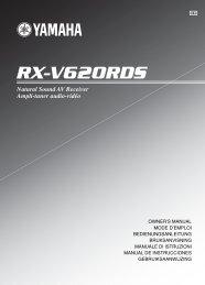 RX-V620RDS - Yamaha