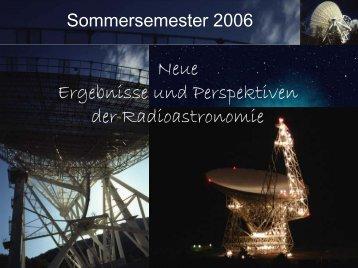 Vorlesung (pdf) - Max-Planck-Institut für Radioastronomie