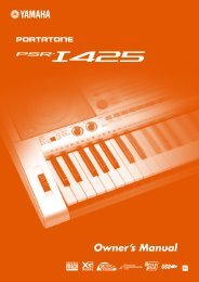 PSR-I425 Owner's Manual - Yamaha Downloads