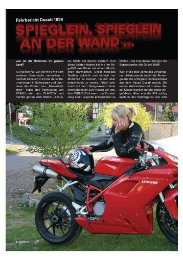 Fahrbericht Ducati 1098 - Kultourbikes.de
