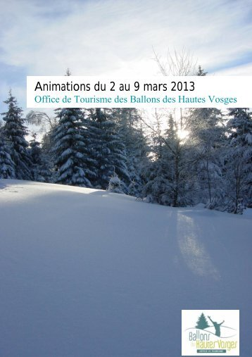Animations du 2 au 9 mars 2013 - RemiremontInfo