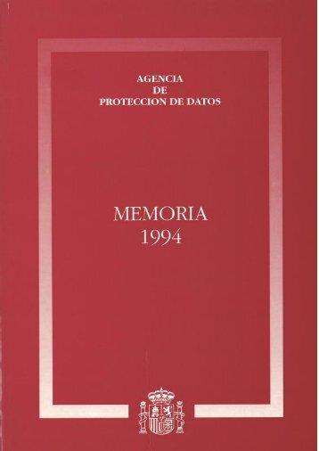 1994 - Agencia Española de Protección de Datos