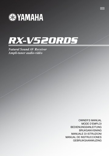 RX-V520RDS - Yamaha