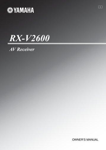 RX-V2600 - Yamaha