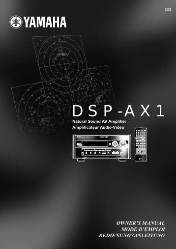 DSP-AX1 - Yamaha