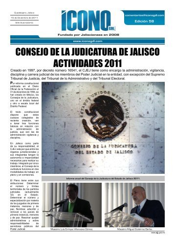 CONSEJO DE LA JUDICATURA DE JALISCO ACTIVIDADES 2011