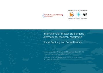 Social Banking and Social Finance - Institute for Social Banking