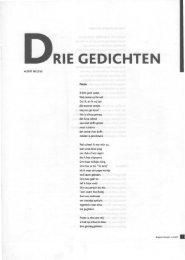 Albert Megens -- Drie gedichten - Cubra