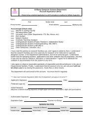 CS UNIX Account Application Form 100 - Department of Computer ...