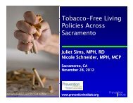 Tobacco-Free Living Policy slides (PDF) - Sierra Health Foundation