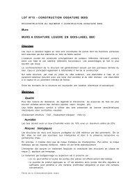 LOT N°15 - CONSTRUCTION OSSATURE BOIS Murs ... - Saint-Aubin