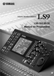 LS9-16/LS9-32 Manual do Proprietário - Yamaha