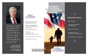 Certificate in Homeland Security (CHLS) - Bush School of ...