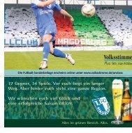 Fußballsaison 2008/09 - Volksstimme
