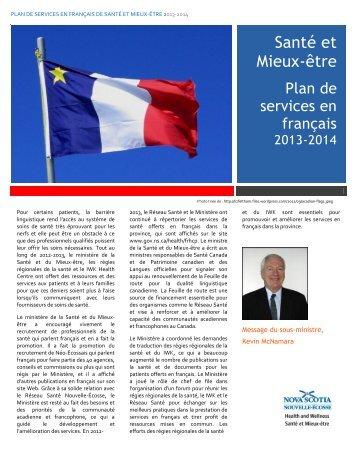 Plan de services en français 2013-2014 - Government of Nova Scotia