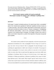 Remarques à propos du rapport entre esthétique et politique chez ...