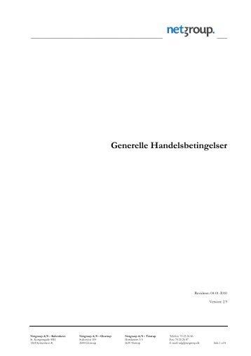 Generelle Handelsbetingelser - Netgroup