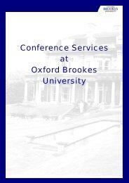 Conference Services at Oxford Brookes University - Em-online.com