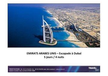 EAU - Dubaï - Court Séjour - Prometour