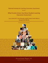 What faculty unions say about student learning outcomes assessment