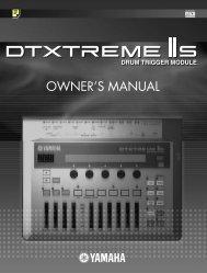DTXTREME IIs OWNER'S MANUAL - Yamaha