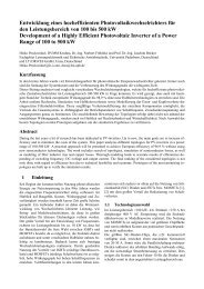 Beitragstitel (16 pt fett) - Fachgebiet Leistungselektronik und ...