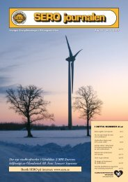 Besök SERO på internet: www.sero.se Det nya vindkraftverket i ...