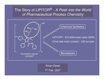 The Story of LIPITOR - A Peek into the World of Pharmaceutical ...