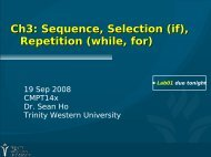 Ch3: Sequence, Selection (if), Repetition (while, for)