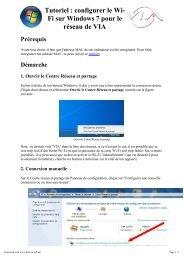 connecter au réseau sans fil Windows 7 - VIA Centrale Réseaux